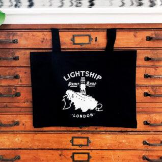 Lightship logo tote bag