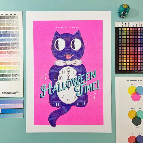 Halloween risograph print